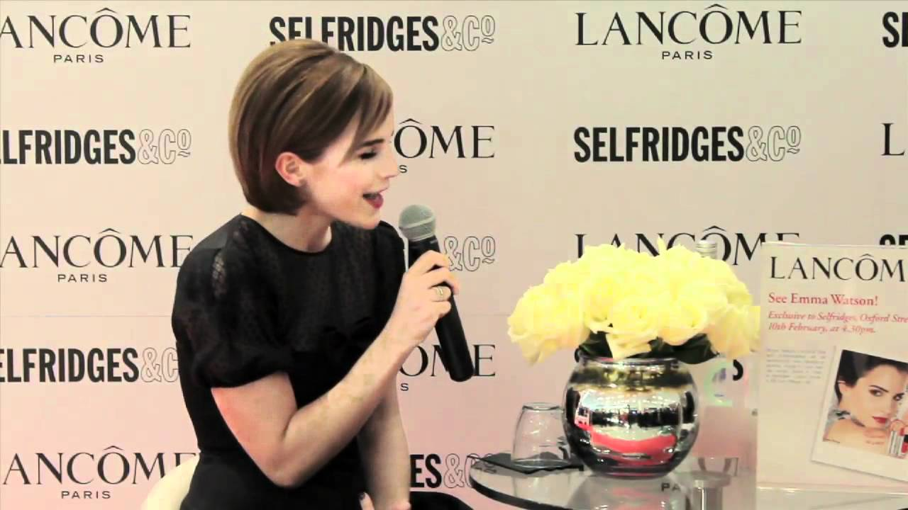 Emma Watson launches her Lancôme Rouge in Love collection ... эмма уотсон