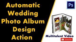 Best wedding album design action in photshop in hindi tutorial