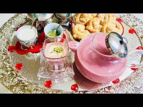 QAIMAQ CHAI AFGHANI قيماق چاى ، شير چاى گلابى