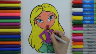 Learn How To Color Girls  Fashion Dolls Bratz | Coloring Pages For Children