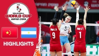 CHINA Vs. ARGENTINA - Highlights | Women's Volleyball World Cup 2019