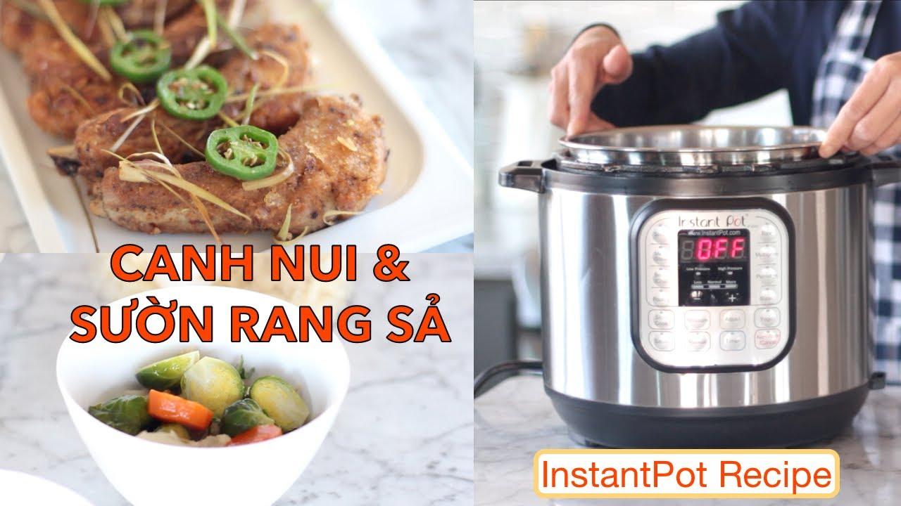Bí quyết luộc nui, Canh nui, Sườn rang sả (Rice macaroni pork rib noodle soup, Lemongrass pork ribs)