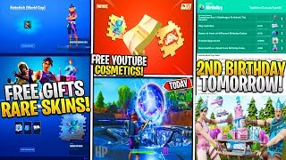 *NEW* Fortnite: FREE Birthday & Youtube Rewards Tomorrow! Rare WORLD CUP Skin/Emote, & Orb Stage 2!