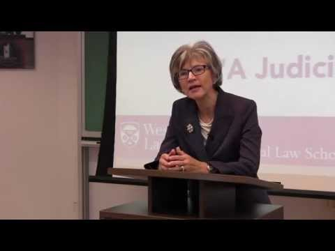 """The Right Honourable Beverley McLachlin, Chief Justice of Canada, """"A Judicial Career"""""""