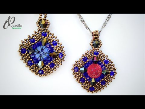 Button Dance Brick stitch Earrings or pendant♻🔆💠🌐 | Easy DIY beaded jewelry