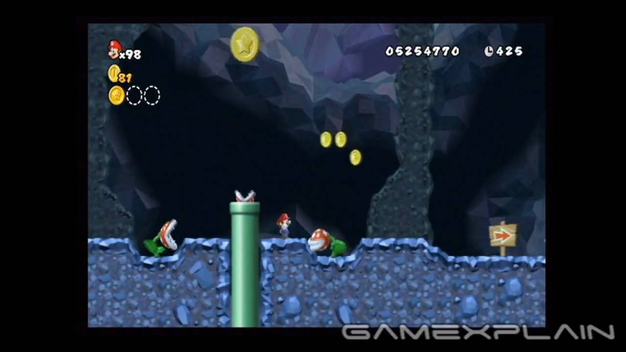 New Super Mario Bros Wii Level 6 2 Star Coins Youtube