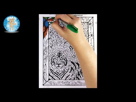 Mindware Color Counts Animals Coloring Book Sample Page Review - Family Toy Report