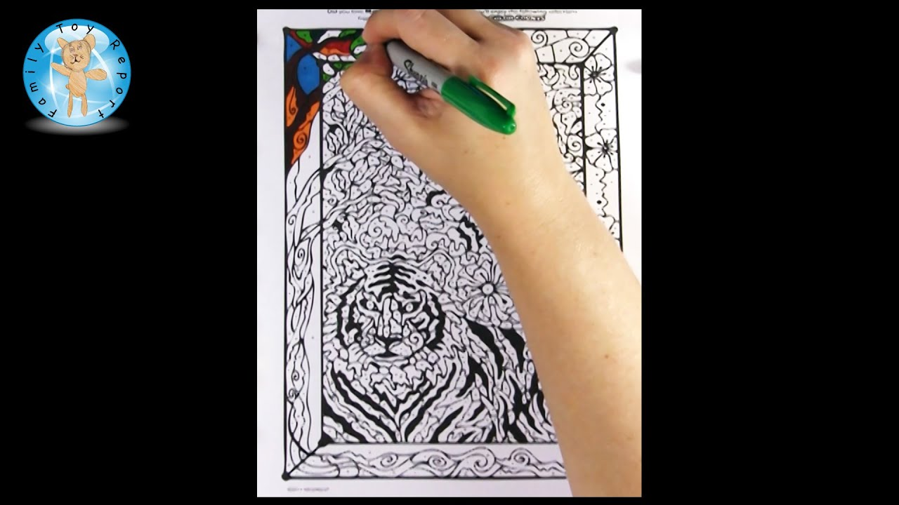 Mindware Color Counts Animals Coloring Book Sample Page Review