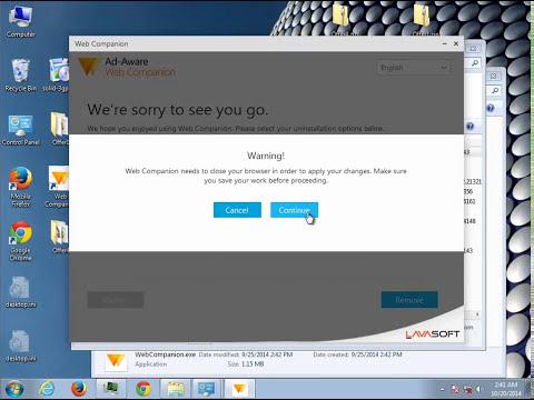 Uninstall Lavasoft Web Companion 1.0.702