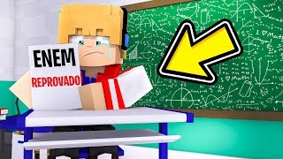 TIREI ZERO NA PROVA DO ENEM NO MINECRAFT ! (CHOREI)