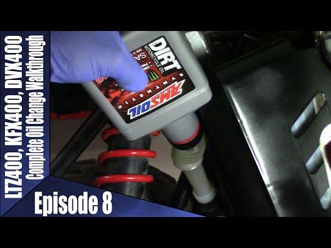 LTZ400, KFX400, DVX400 Oil Change Walkthrough With Amsoil Synthetic Oil Episode 8