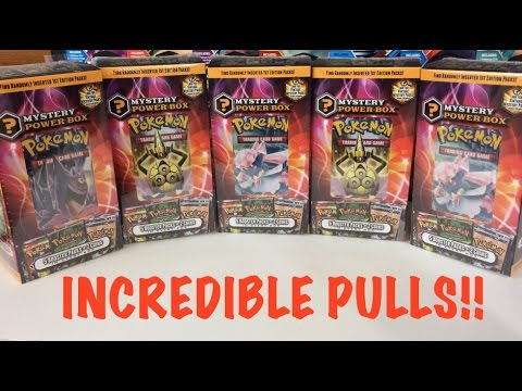 THE BEST - 5 MYSTERY POWER BOXES POKEMON CARD OPENING!! WITH INCREDIBLE PULLS!!
