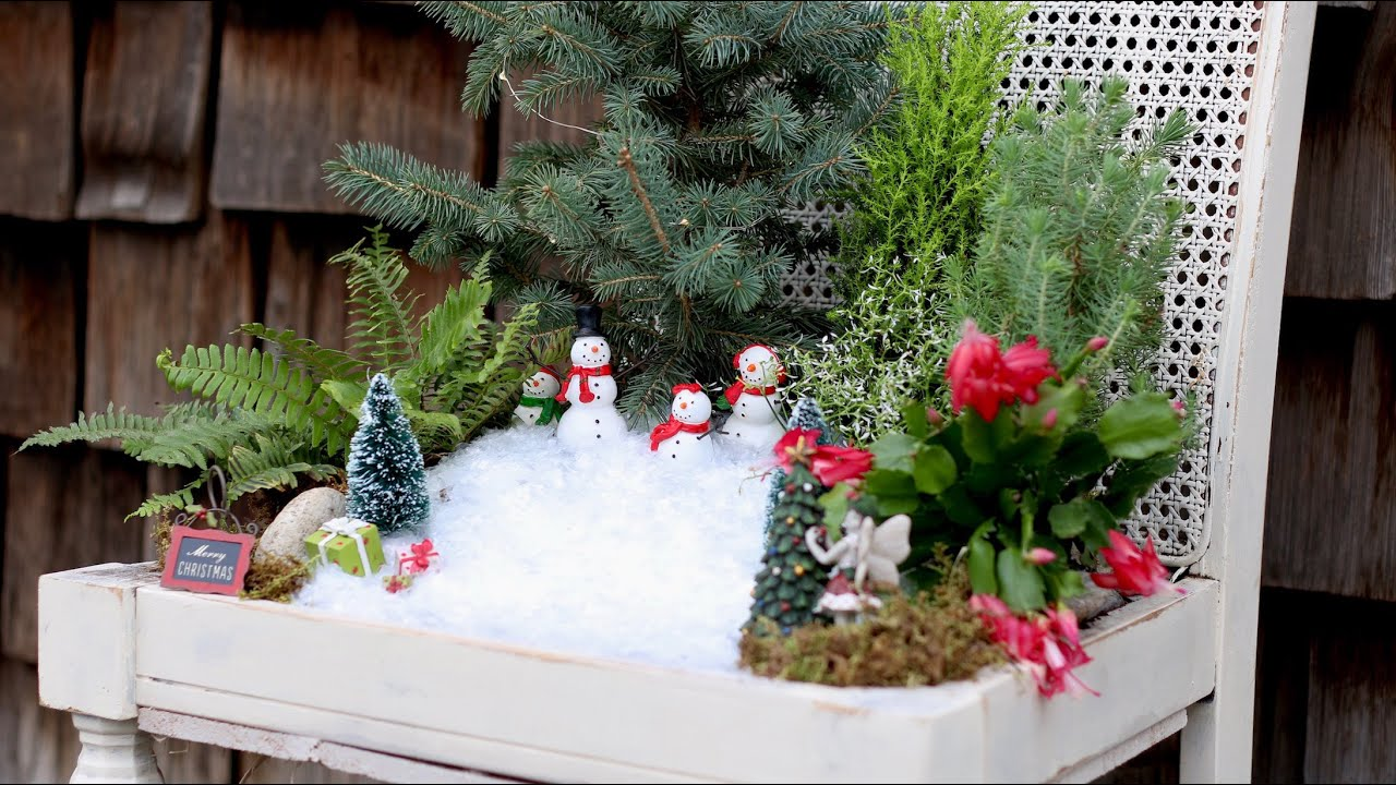 Winter, spring, summer and fall fairy garden inspiration to brighten your home and porch. Make one outdoor, indoors, with plants, with flowers, or with succulents! You can make it in a barrel, a milk jug, a pot, or a tea cup.