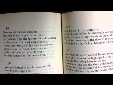 Bhartrihari's Śṛṅgāraśataka (Sanskrit Poetry)