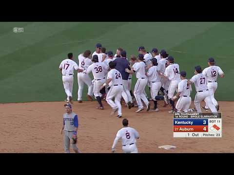Auburn Baseball vs Kentucky SEC Tournament Round 1 Highlights