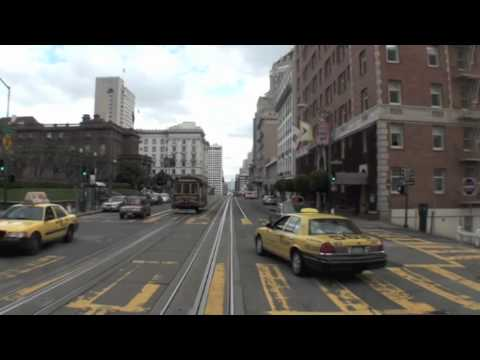 San Francisco Cable Car - Entire Trip. California/Van Ness to Market Street