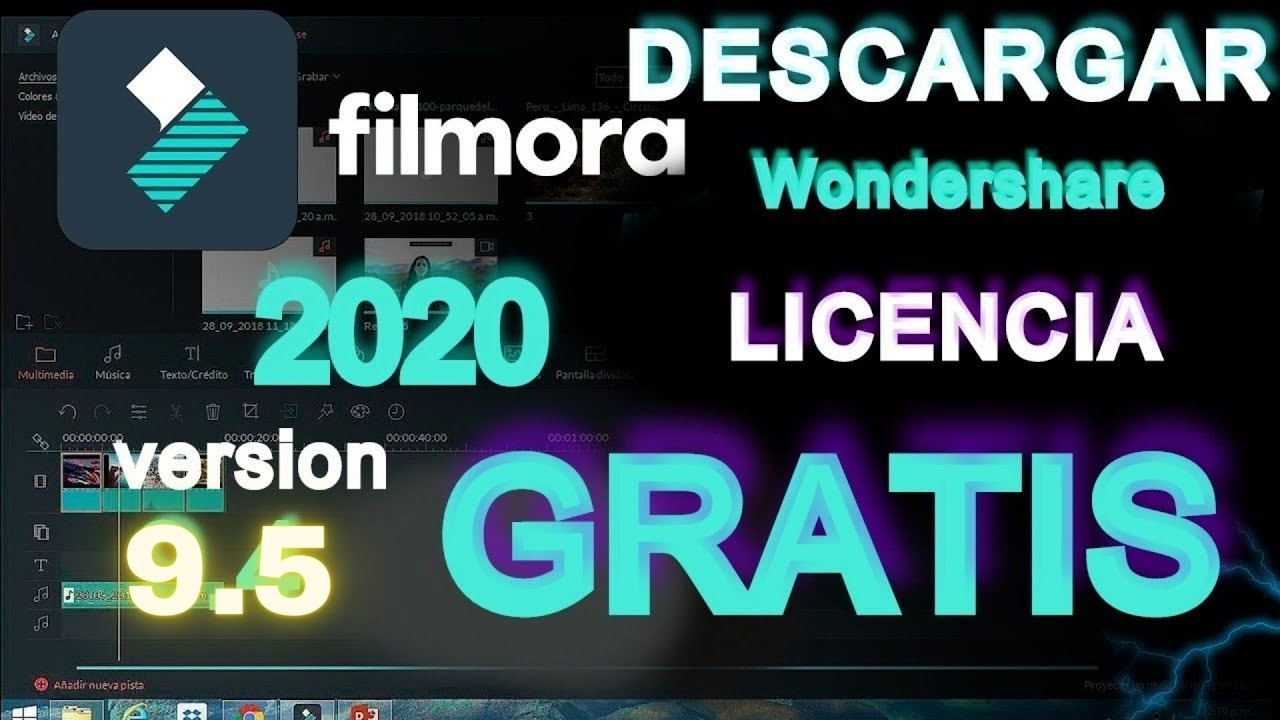 DESCARGAR Wondershare Filmora 9.5. Sin marca de agua