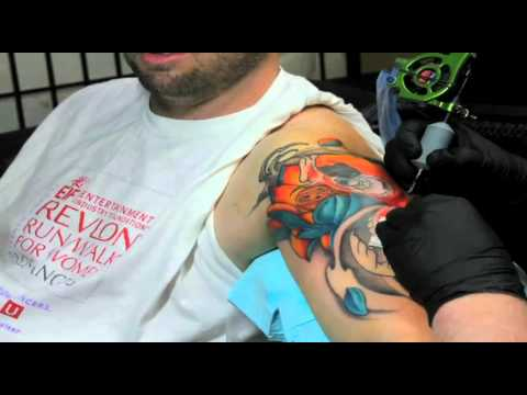 Koi Fish Tattoo • Japanese Tattoo • Time Lapse Video By Jason Dunn