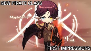 MapleStory NEW Pirate Class: Ark (First Impressions & Gameplay Footage)