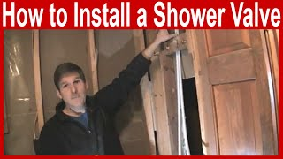 How to Install a Delta Shower Valve with Pex
