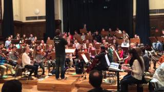 Youth Orchestra Goethe Schule Essen rehearsing for MANOWAR sho…