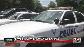 Greenville police officer pay raise