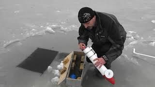 Пластиковая торпеда для протяжки сетей подо льдом с радиомаяком 3