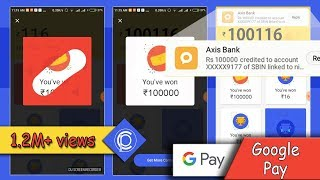 Google pay 1 lakh winner - live scratch (No fake tricks, 100% real, bank msg proof included)