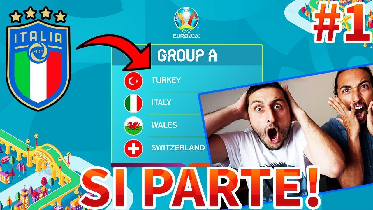 Comincia l'AVVENTURA dell'ITALIA ad EURO 2020!!! Europeo Realistico | Turchia-Italia [PES 2020]