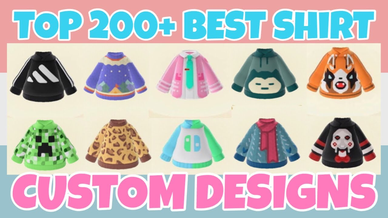 Top 200 Best Long Sleeves Shirt Custom Designs In Animal Crossing
