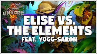 [Hearthstone] Elise Lyra Yogg Priest vs Elemental Shaman Gameplay