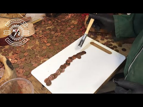 WOODTURNING - THE HAND OF MANY PENNIES !