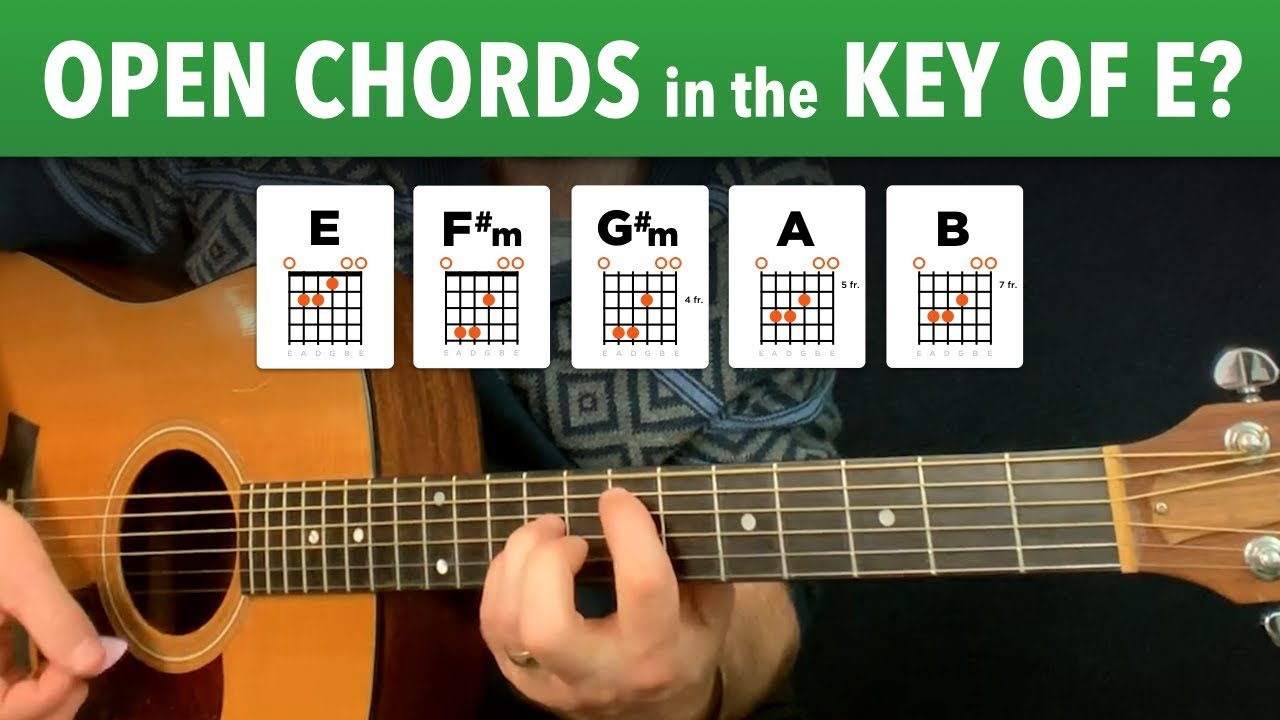 How to fake open chords in key of E Warm Up 15