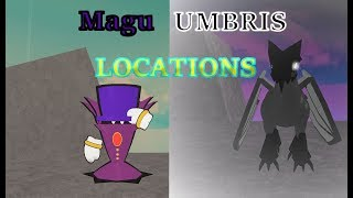 Where to find Magu and Umbris in Monsters of Etheria | Roblox|