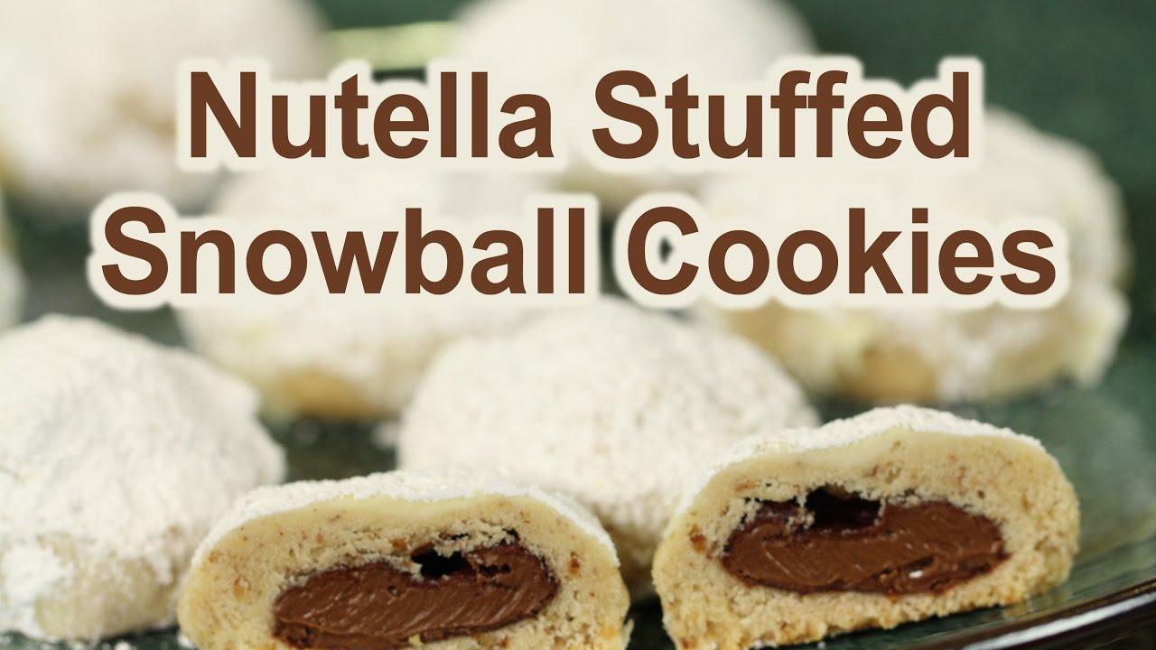 Nutella Stuffed Snowball Cookies Mexican Wedding Cookies Rockin Robin Cooks