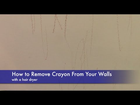 How To Remove Crayon From Your Walls With A Hair Dryer