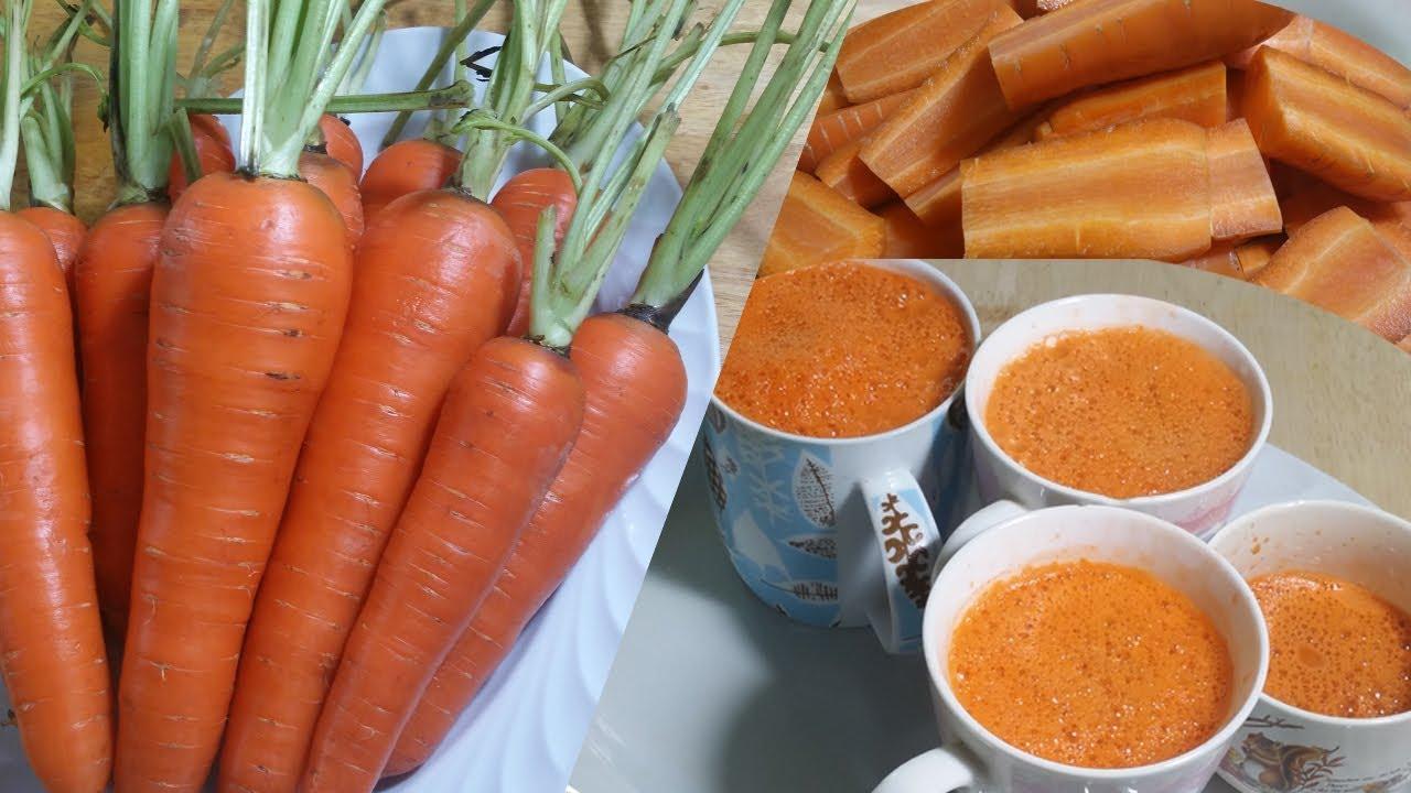 how to make carrot juice (ធ្វើគៀបទឹកការ៉ុត)
