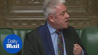 John Bercow RULES OUT third vote on May's same Brexit deal