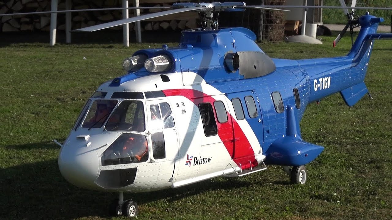 AEROSPATIALE AS-332L SUPER PUMA BRISTOW RC SCALE TURBINE MODEL HELICOPTER