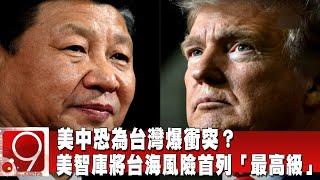 美中恐為台灣爆衝突?美智庫將台海風險首列「最高級」 @9點換日線