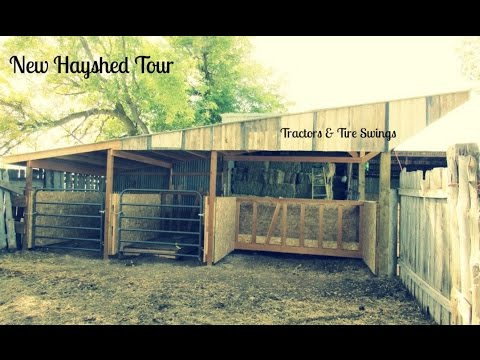 New Hay Shed, Feeding & Milking Area Tour