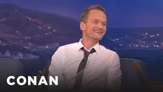neil patrick harris bares all about his sex scenes conan on tbs