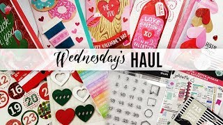 Wednesday's Haul 01.02.2019 - Craft & Planner Supplies Michael's, Joann, Dollar Tree, Target