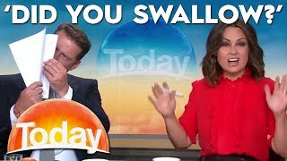 'Did you swallow?' hilarious on air blooper | TODAY Show