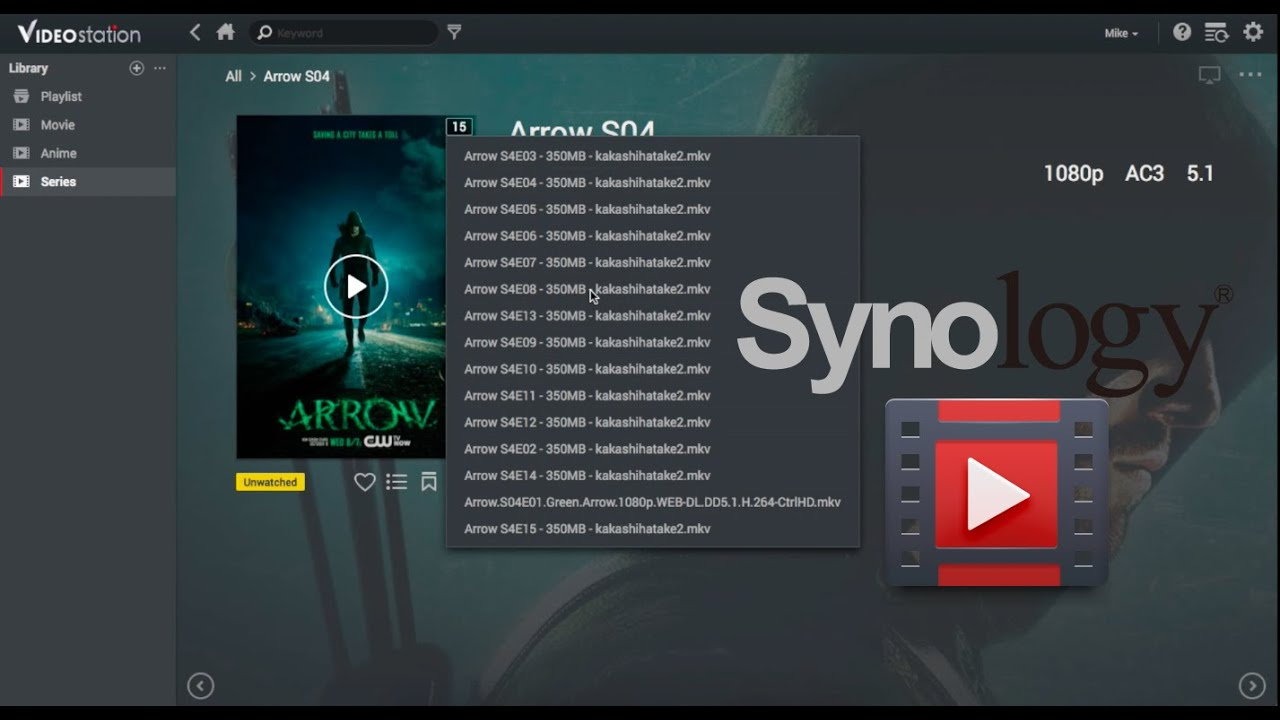 [Synology] Video Station - Video Arrange/Group/Management (by seasons)