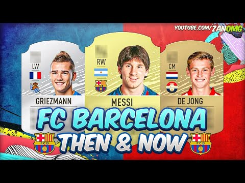 FIFA 20 | FC BARCELONA FIRST & PRESENT FIFA CARDS!! | FT. MESSI, GRIEZMANN, DE JONG...