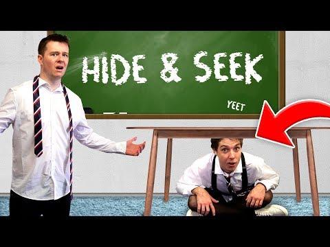 CLICK PLAYS HIDE AND SEEK IN A SCHOOL