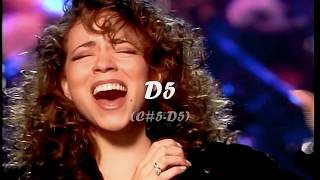 (HD) Mariah Carey - Live Vocal Range -