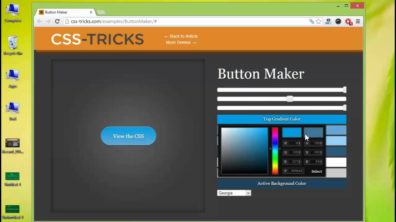 how to make a css button