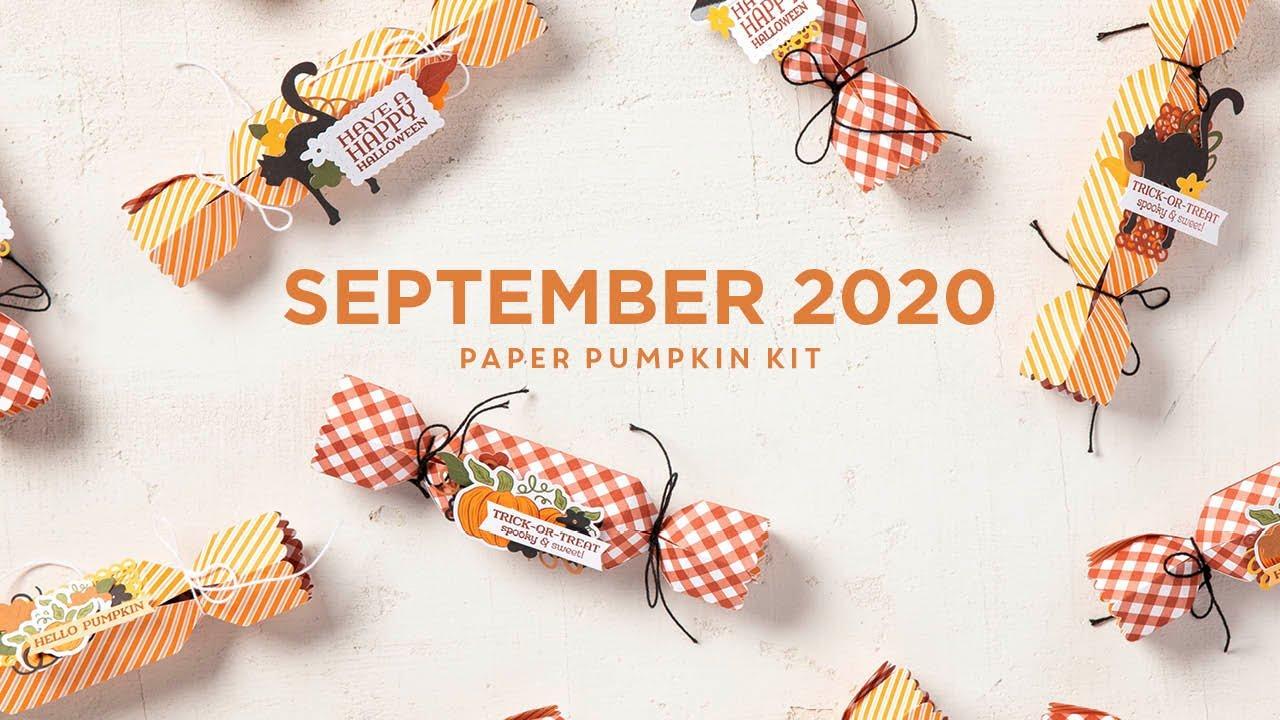 Halloween 2020 Paper Pumpkin Paper Pumpkin September 2020   YouTube